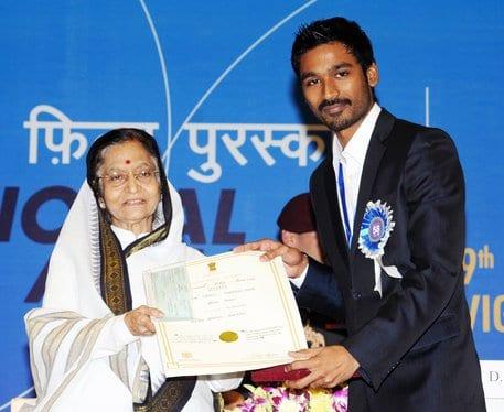 dhanush National Award