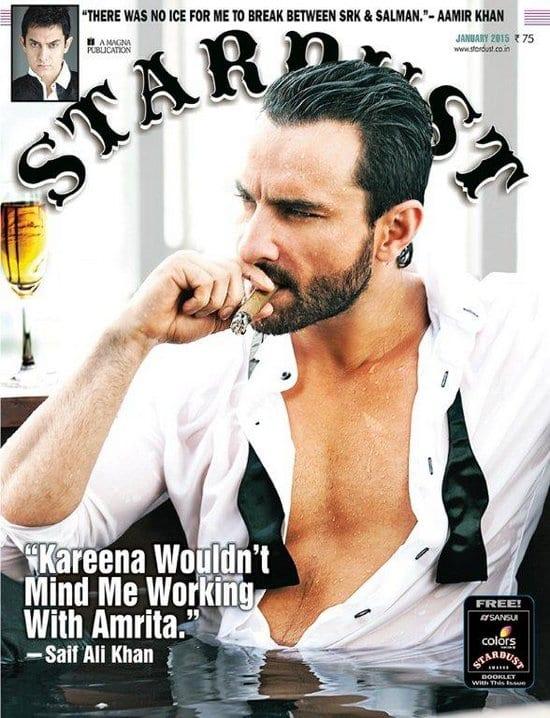 Saif Ali Khan on Stardust Magazine