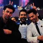 Ranbir Kapoor, Shahid Kapoor and Varun Dhawan Having Fun at Filmfare Awards 2015