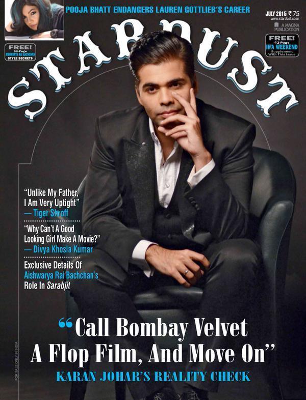 Karan Johar on Stardust Magazine Talking About Bombay Velvet