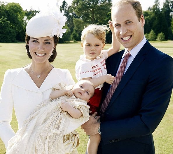 Prince William, Kate Middleton with their Children, George and Charlotte