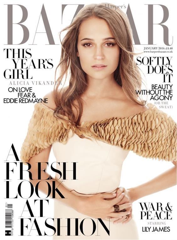 Alicia Vikander on Harper's Bazaar Magazine