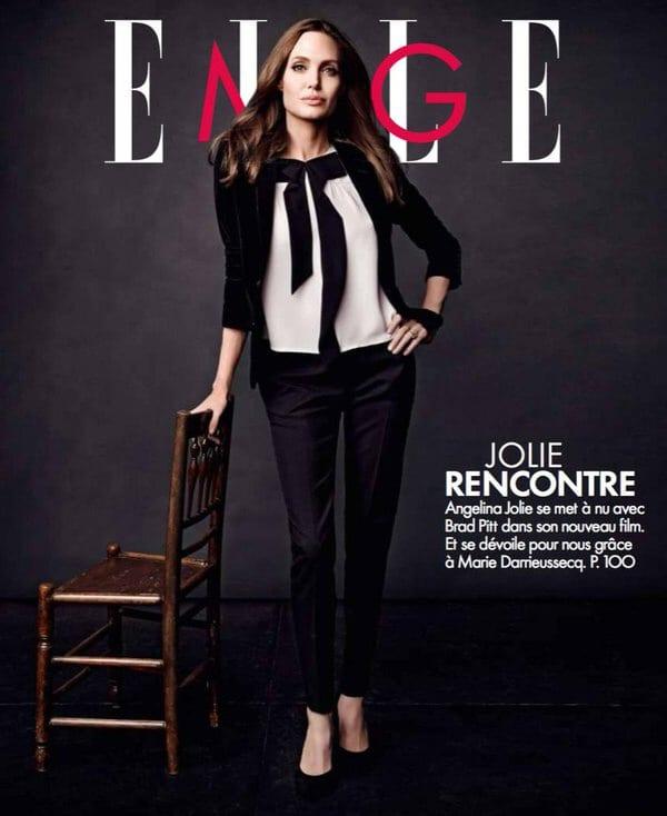 Angelina Jolie on Elle Magazine