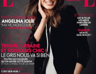 Angelina jolie for Elle magazine this month