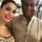 Amy Jackson Spotted with Rajinikanth on the Sets of Robot 2.0