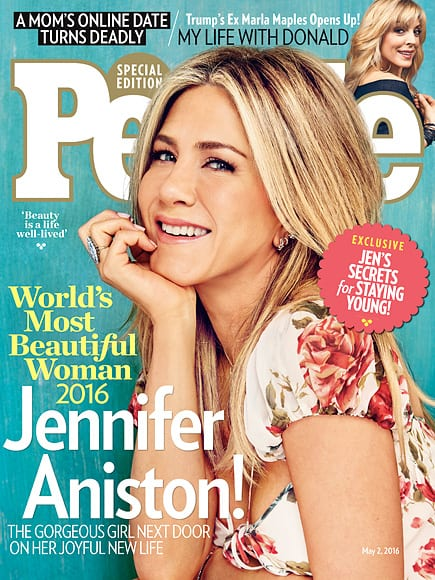 Jennifer Aniston is People Magazine's 2016 Most Beautiful Woman in the World