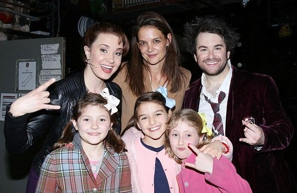 Katie Holmes and Suri Cruise Spotted at School Of Rock Broadway Musical