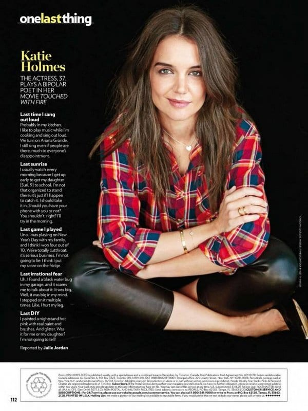 Katie Holmes talking about a lot of things in People Magazine