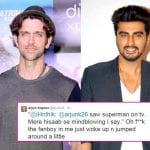 Arjun Kapoor on having a Man Crush on Hrithik Roshan