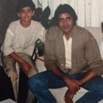 Hrithik Roshan with Amitabh Bachchan in an Old Picture