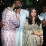 Abhishek Bachchan shows his love to Sanjay Dutt with Aishwarya Rai by his side