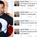 Don't believe Aamir Khan when he talks about other films and actors