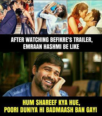 Emraan Hashmi's Reaction to Ranveer Singh's Befikre