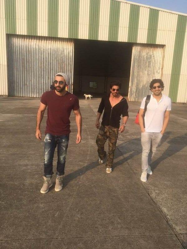 Ranbir Kapoor, Ayan Mukerji and Shah Rukh Khan Spotted in Alibaug