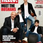 Hrithik Roshan with Rakesh Roshan, Hrehaan and Hridhaan on Hello Magazine