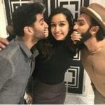 Ranveer Singh, Aditya Roy Kapur and Shraddha Kapoor Spotted at the OK Jaanu Screening