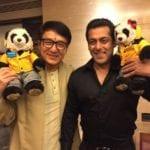 Salman Khan was happy to meet Jackie Chan