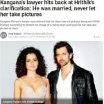 Kangana Ranaut replies back to Hrithik Roshan's statement